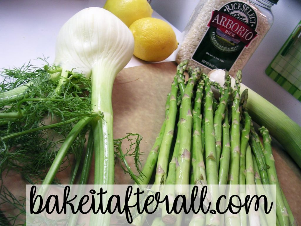 Spring Green Risotto ingredients