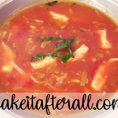 Chicken, Leek and Tomato Soup