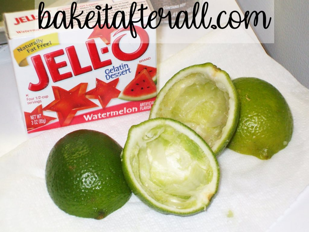 limes that are juiced and pulp removed