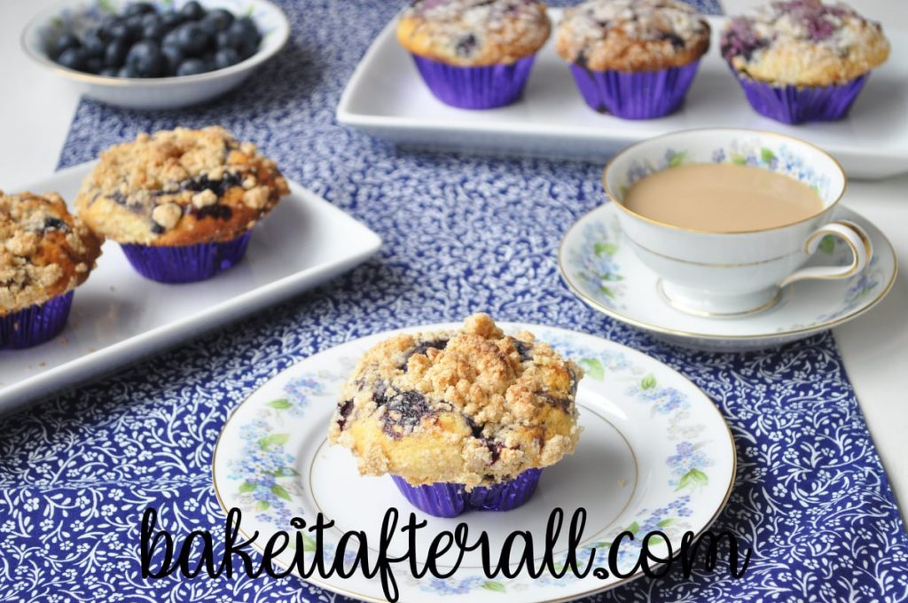 best blueberry muffins on a plate
