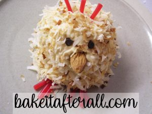 Tres Leches Coconut Cupcakes with Dulce de Leche Buttercream dressed as a spring chick