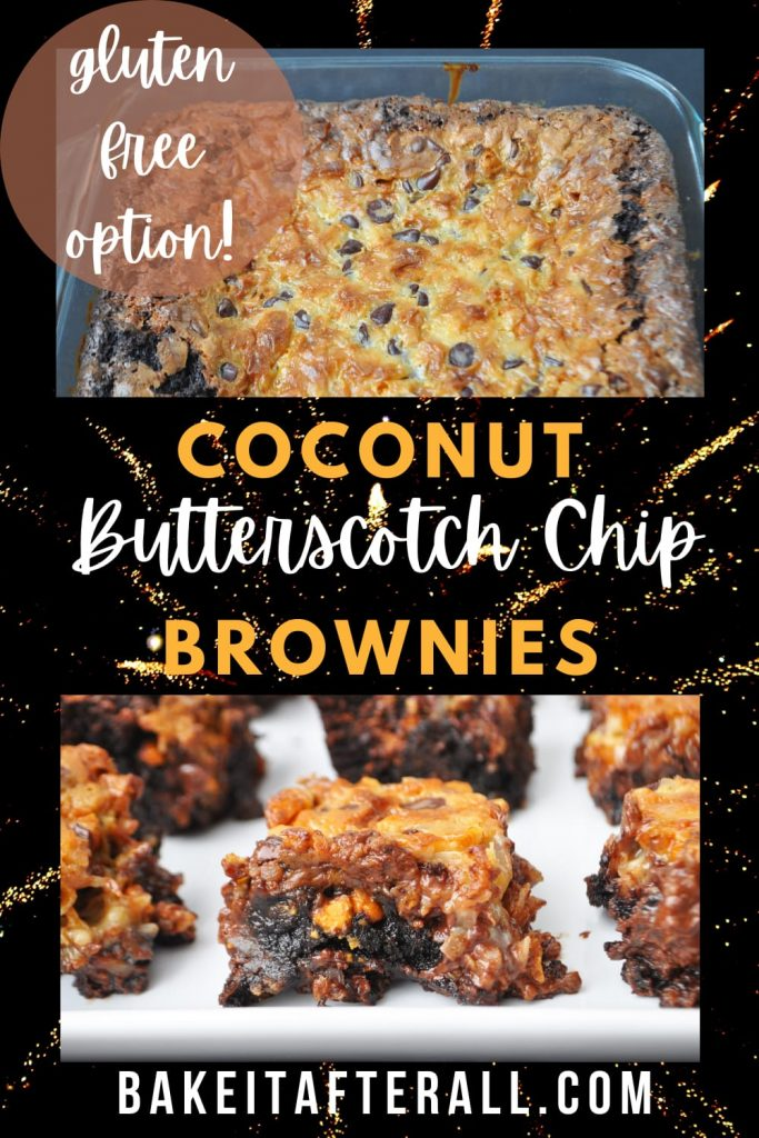 Coconut Butterscotch Chip Brownies PIN