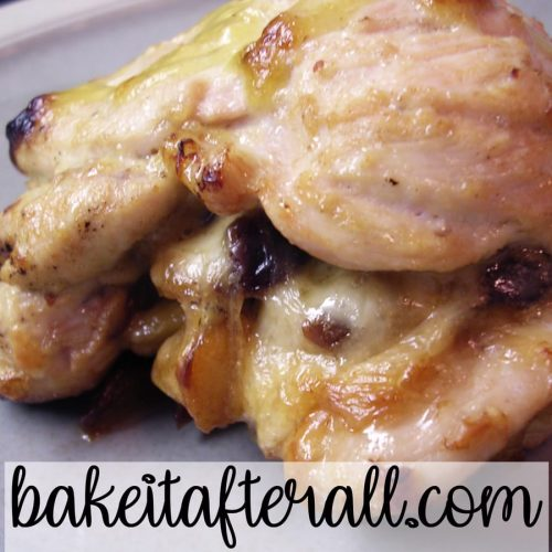 caramelized apple chicken stuffed with fontina and cherries