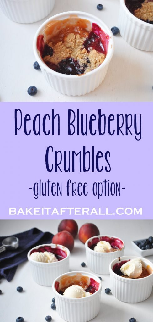 peach blueberry crumbles pin
