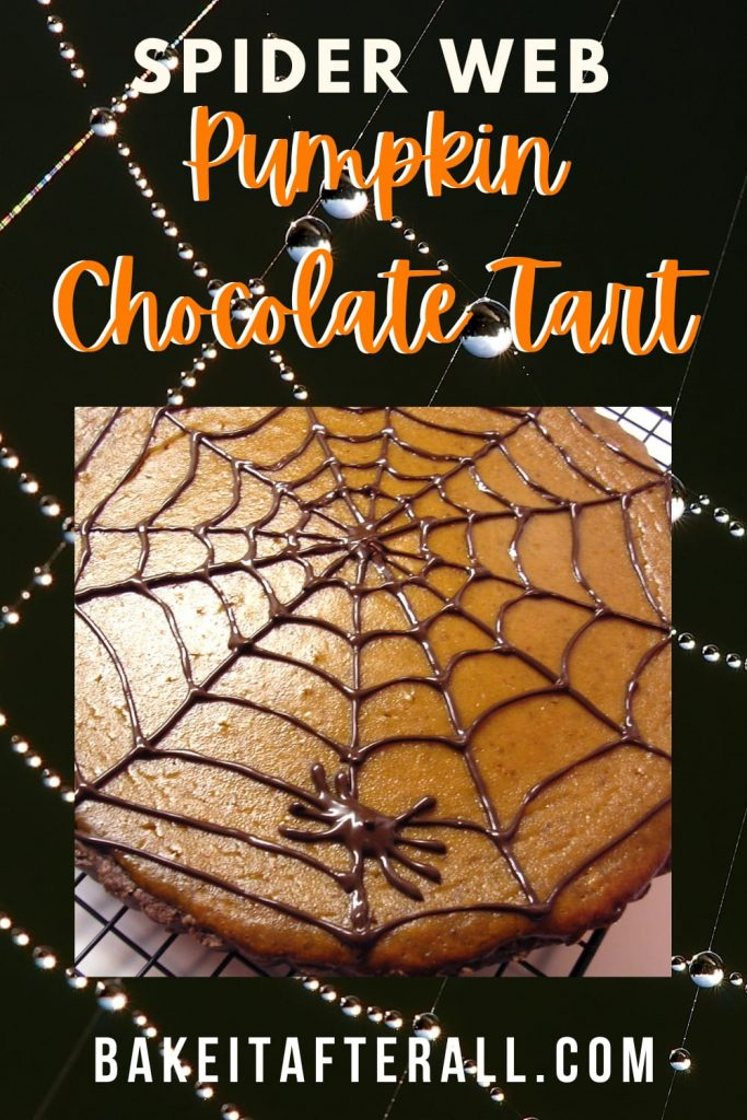 Spider Web Pumpkin Chocolate Tart PIN