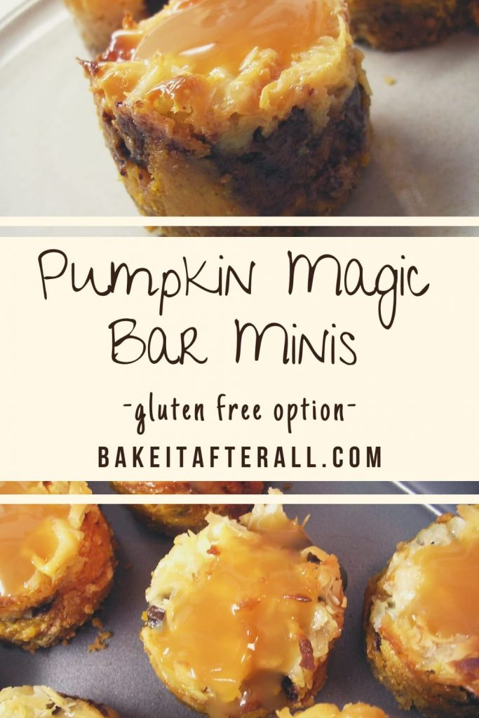 pumpkin spice magic bar minis