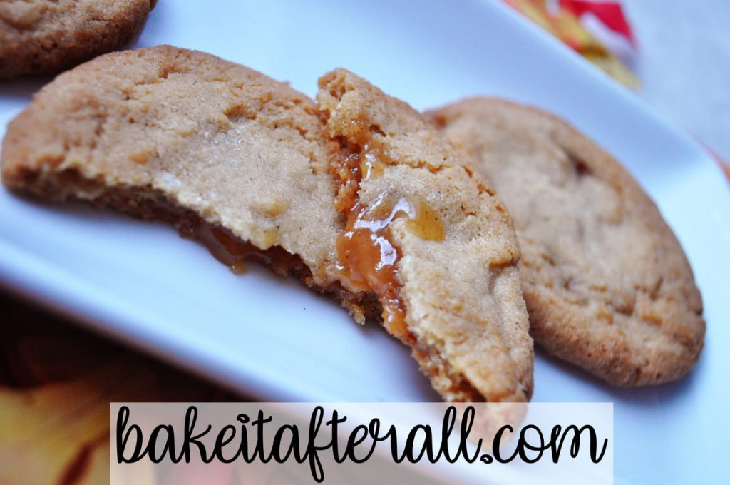 browned butter cookies with apple cider caramel filling