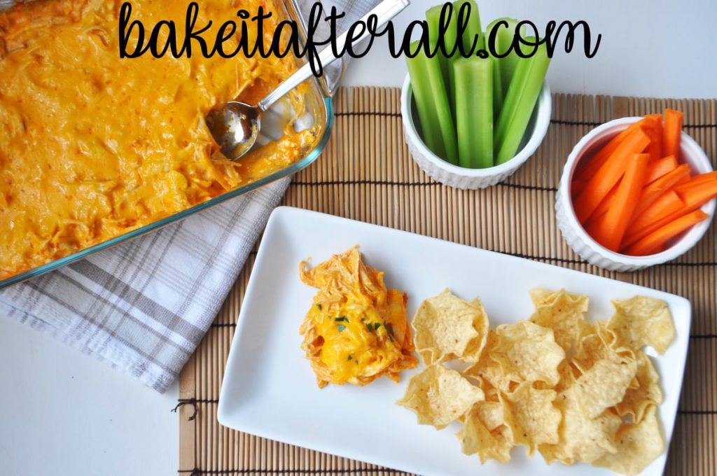 Buffalo Chicken Dip on a plate