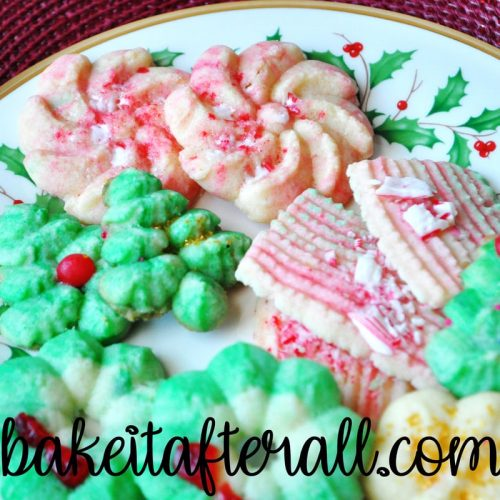 Christmas Butter Cookies on a plate