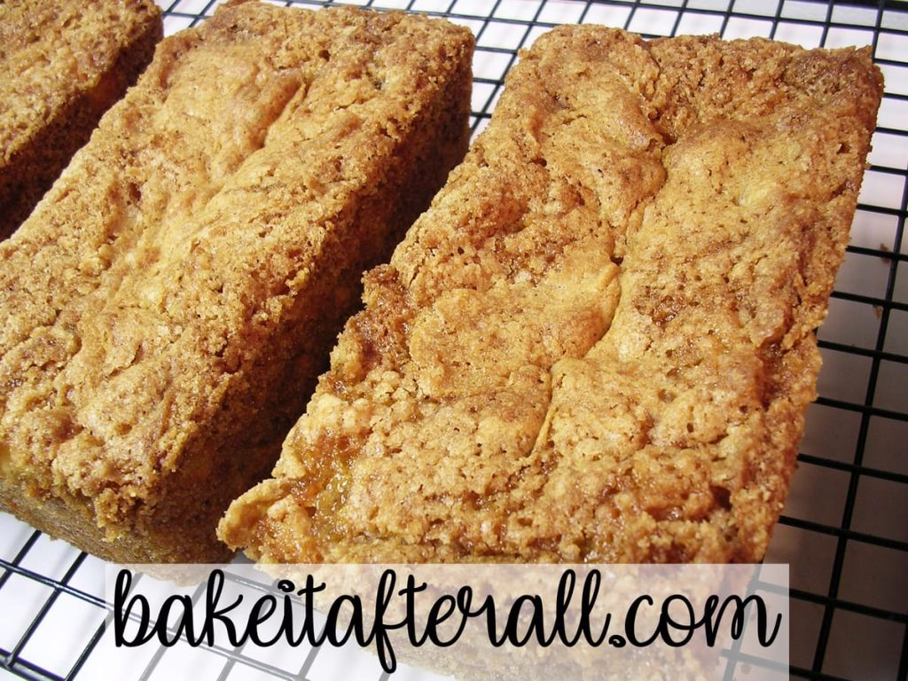 Pineapple Carrot Bread loaves on a cooling rack