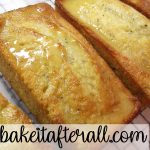 Poppy Seed Bread loaves on a cooling rack