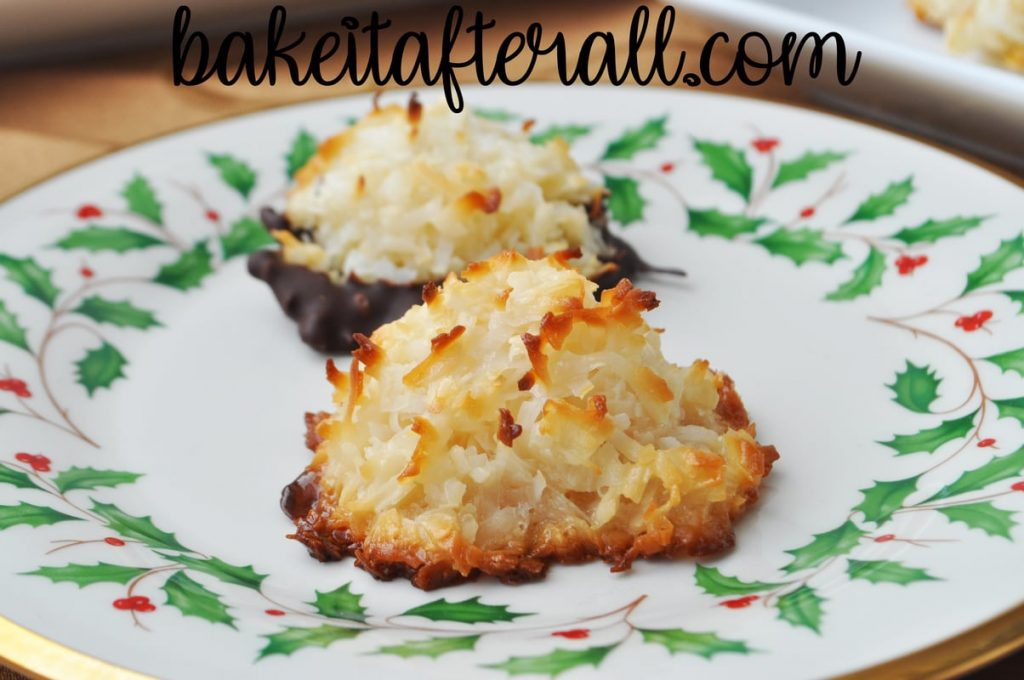Gluten Free Macaroons on a plate