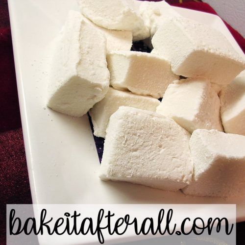 Homemade Marshmallows on a plate