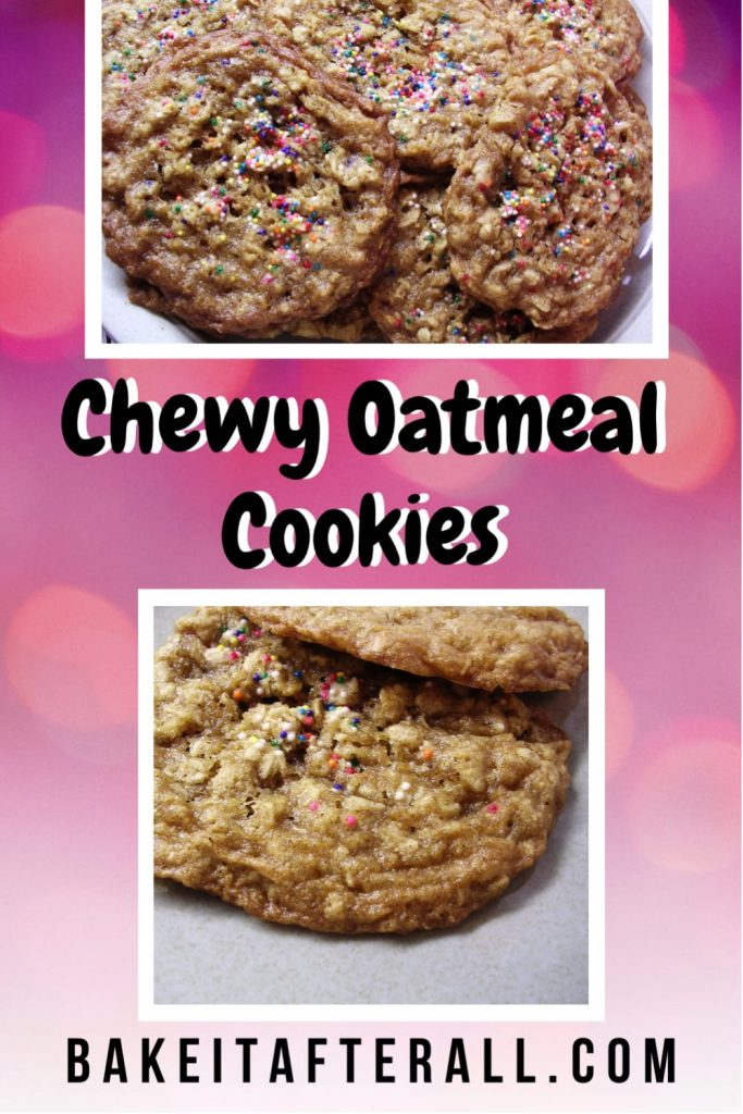 Chewy Oatmeal Cookies Pin