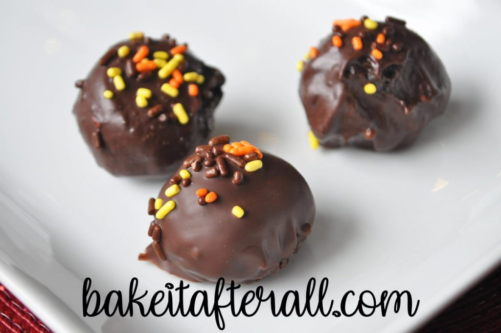 fall colored sprinkles on oreo balls
