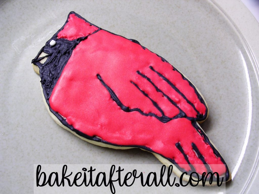 Cardinal Sugar Cookie with Royal Icing