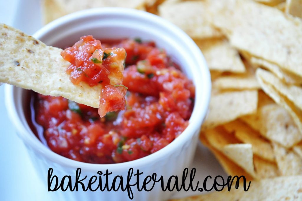 Restaurant Style Salsa on a chip