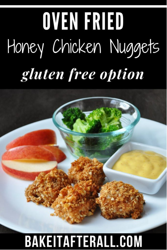 Oven Fried Honey Chicken Nuggets PIN