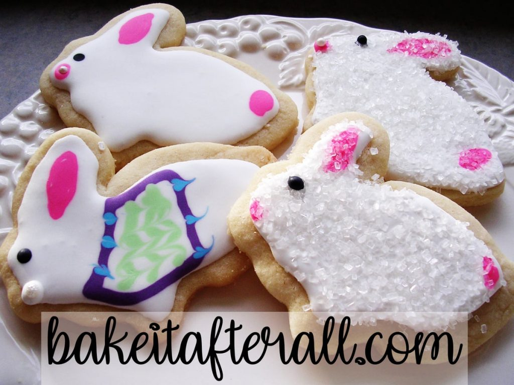bunny cookies decorated
