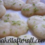 citrus glazed butter cookies with lime zest