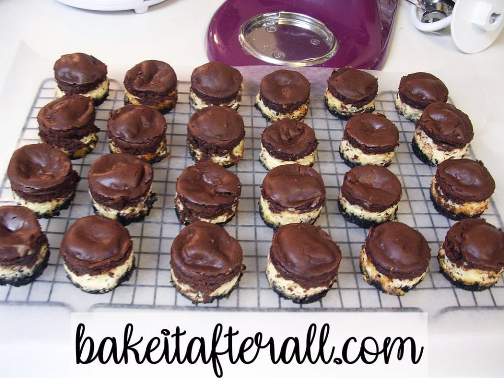unglazed Bailey's Irish Cream Mini Cheesecakes