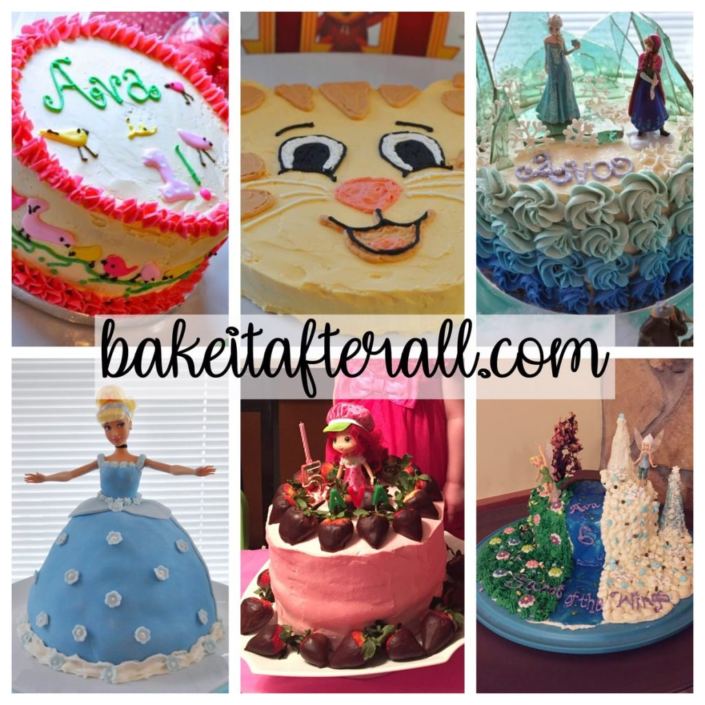 Collage of Cakes Decorated with Easy Vanilla Buttercream