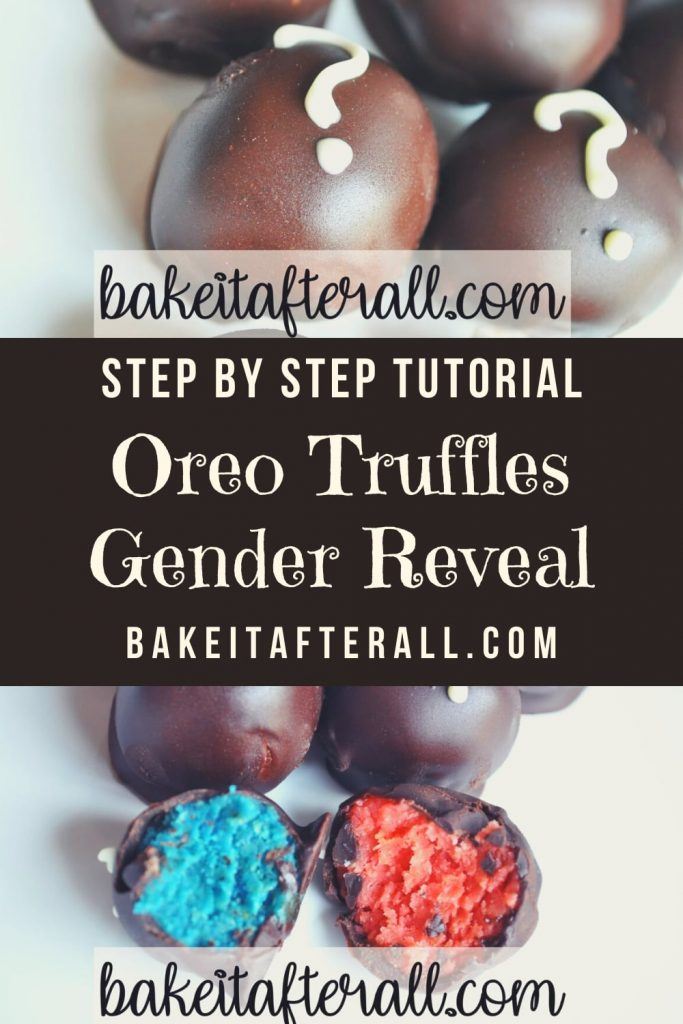 Oreo Truffle Gender Reveal