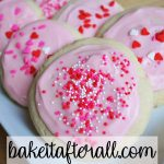 soft frosted sugar cookies Valentine