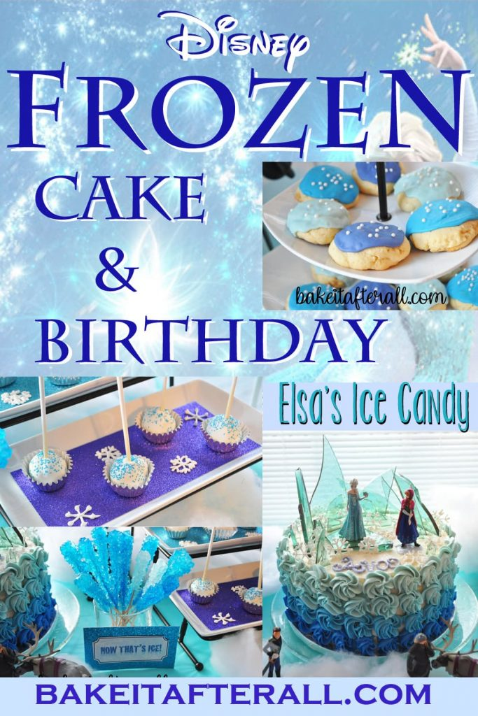 Frozen Cake & Birthday Pin