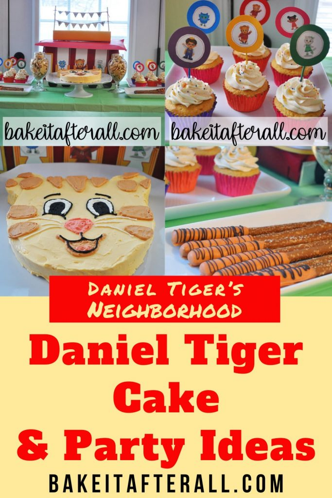 Daniel Tiger Cake and Party Ideas