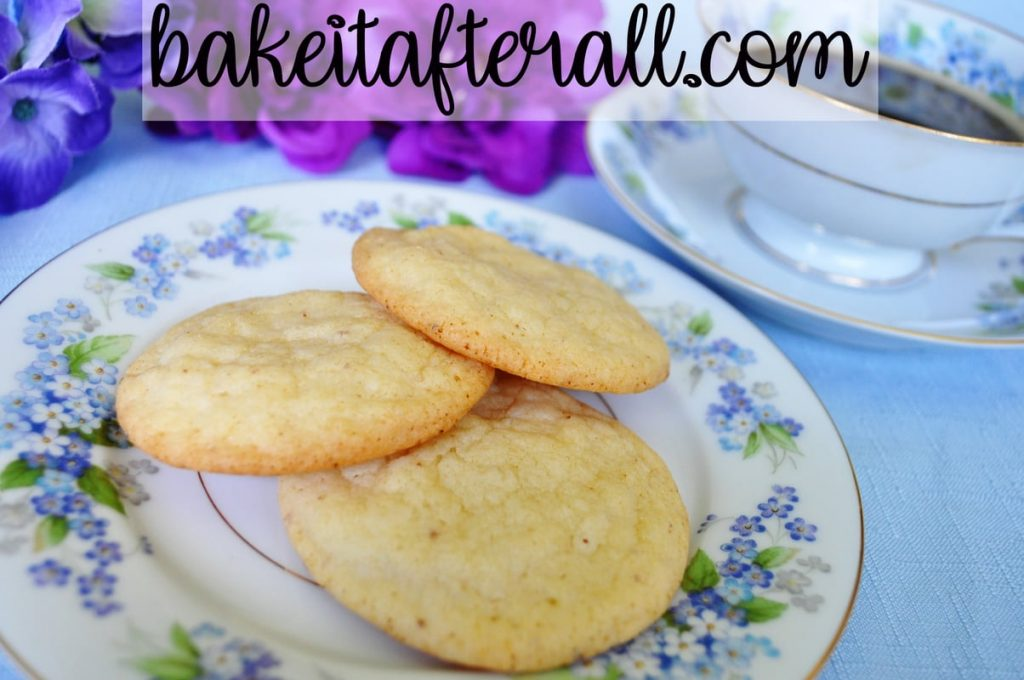 Browned Butter Sugar Cookies on a plate
