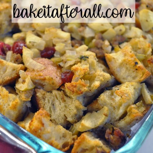 New England Sausage Apple and Cranberry Stuffing