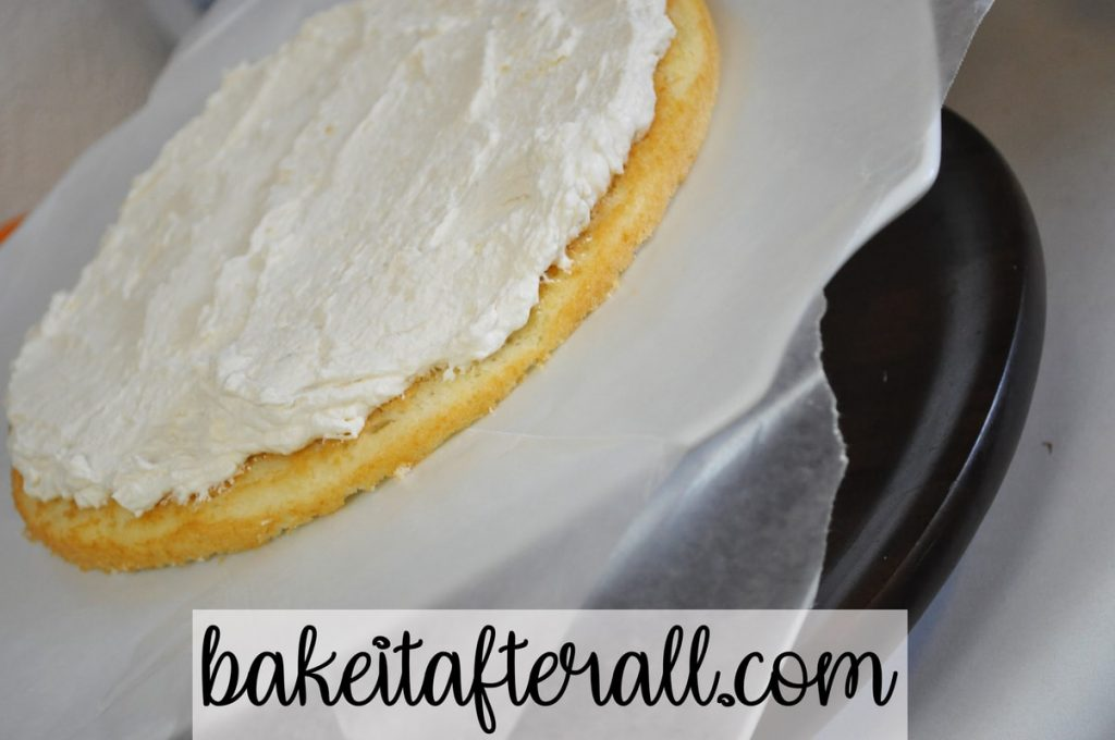 vanilla cake with kahlua whipped cream filling