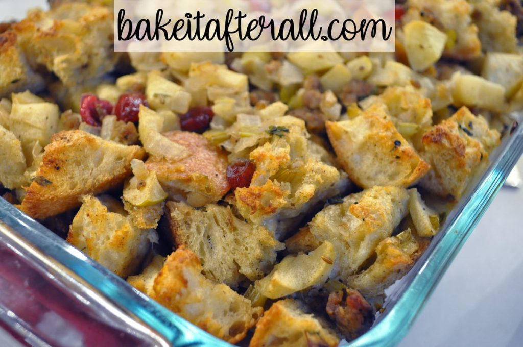 New England Sausage and Cranberry Stuffing Dressing Thanksgiving