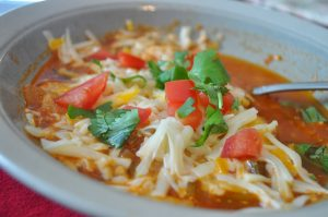 Simplified Chicken Tortilla Soup
