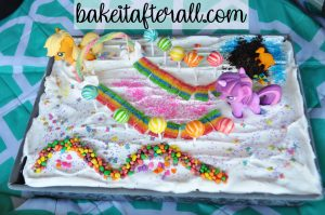 rainbow unicorn ice cream cake
