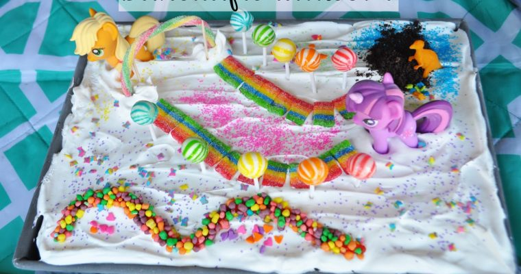 Rainbow Unicorn Ice Cream Cake {My Little Pony}