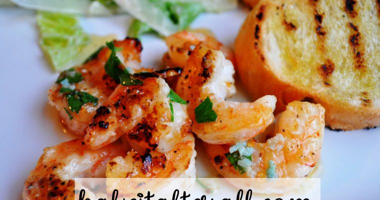 Grilled Shrimp with Spicy Lemon Garlic Sauce