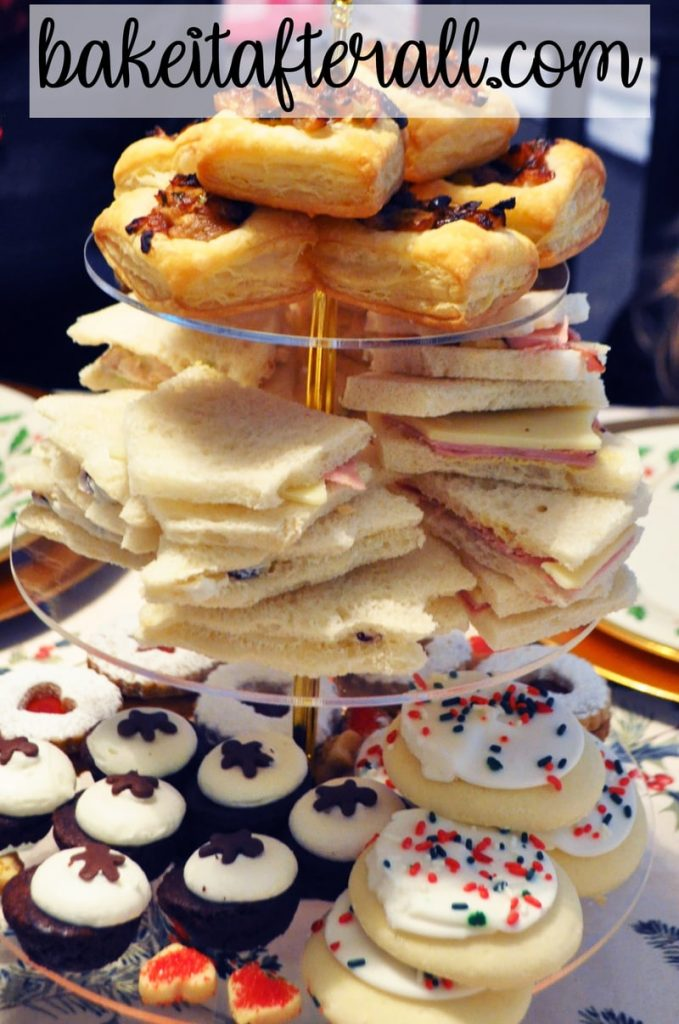 Christmas tea party for kids, onion tartlets