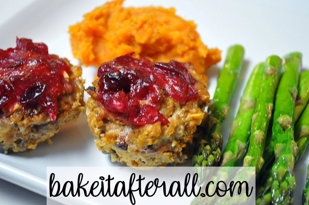 turkey meatloaf muffins with cranberry glaze