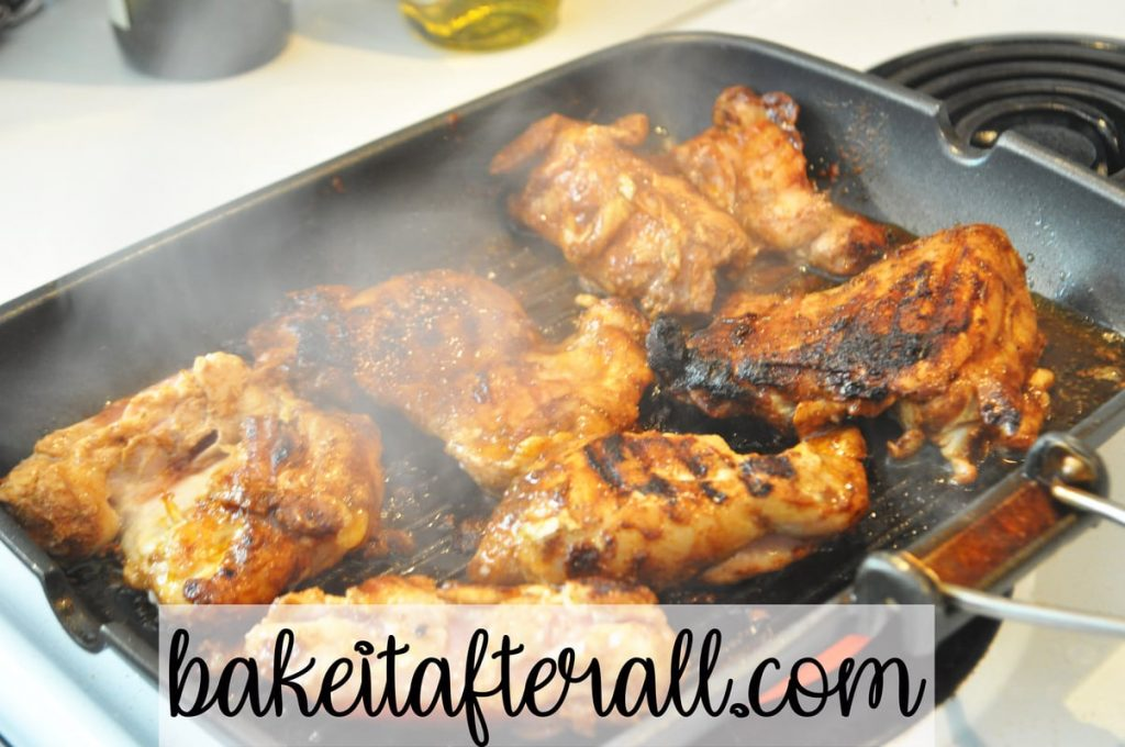 marinated street taco chicken in grill pan
