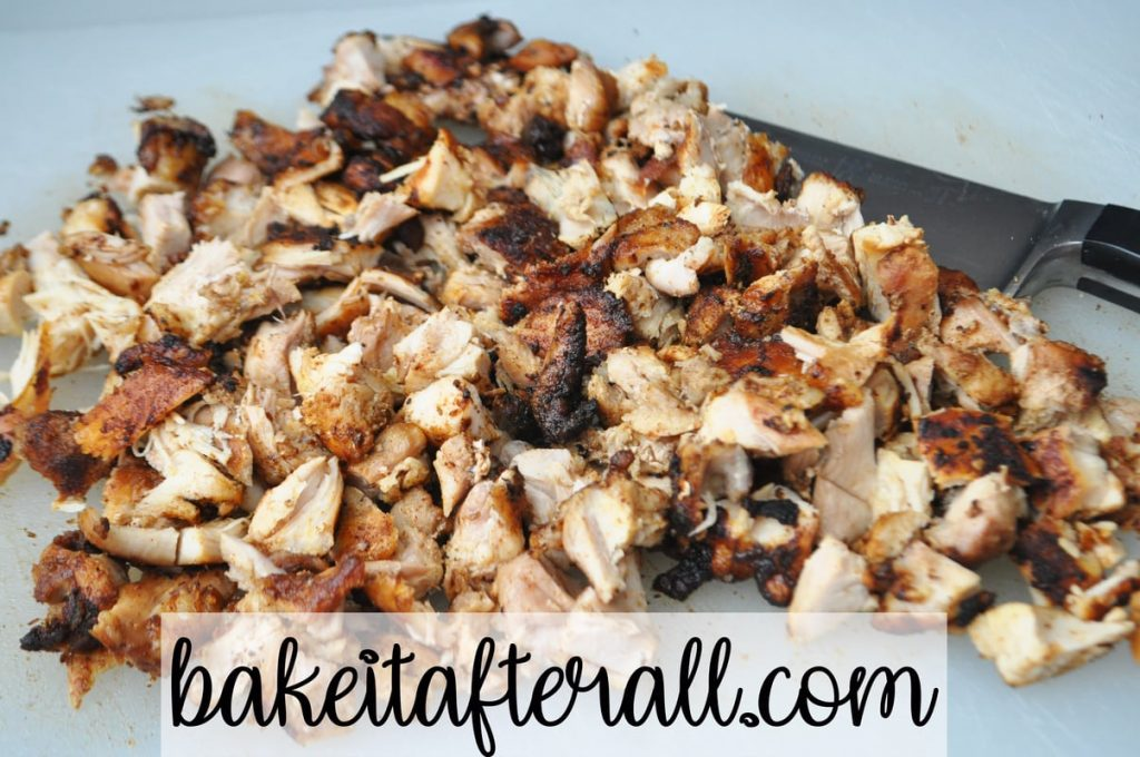 chopped marinated Mexican chicken