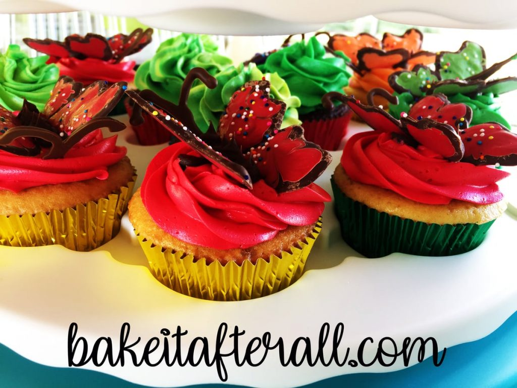 cupcakes in a cupcake carrier