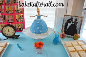 Cinderella cake dessert table