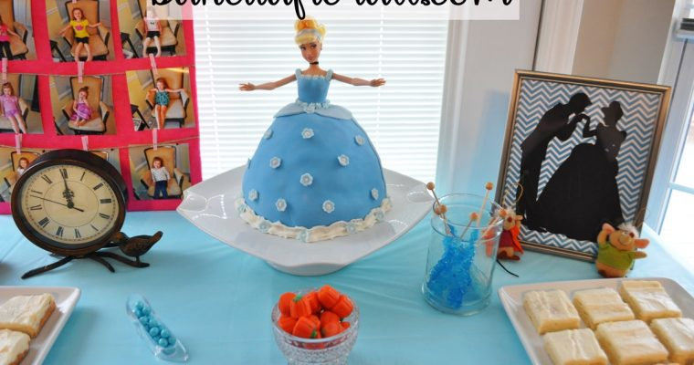 Cinderella Cake and Birthday Party