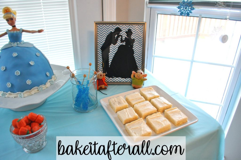 Cinderella silhouette dessert table