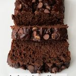 healthy chocolate chocolate chip banana bread