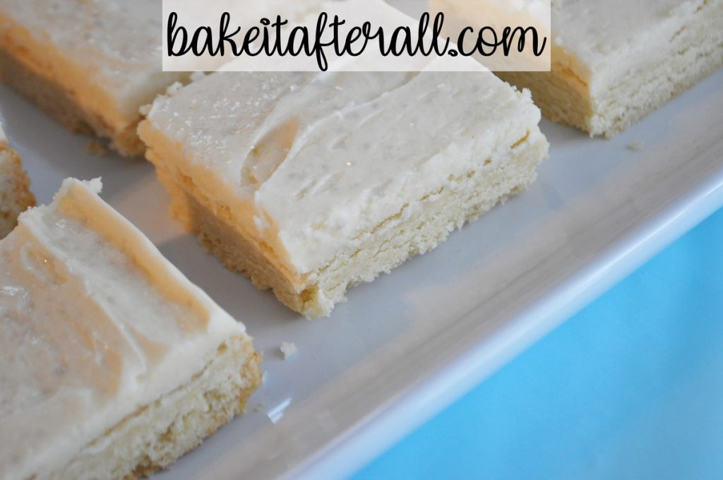 side view of cookie bars