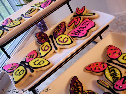 Butterfly and Dragonfly Sugar Cookies with Royal Icing