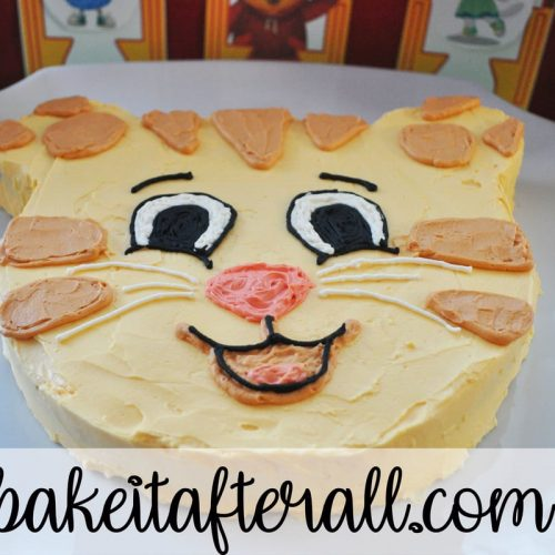 daniel tiger cake and birthday party